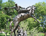 statue of man on horse, Austin TX, cowboy sculpture